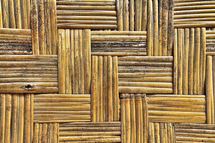 braided dry bamboo