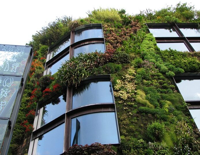 green building facade