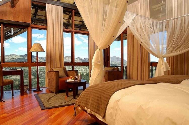 elegant bedroom with beautiful view