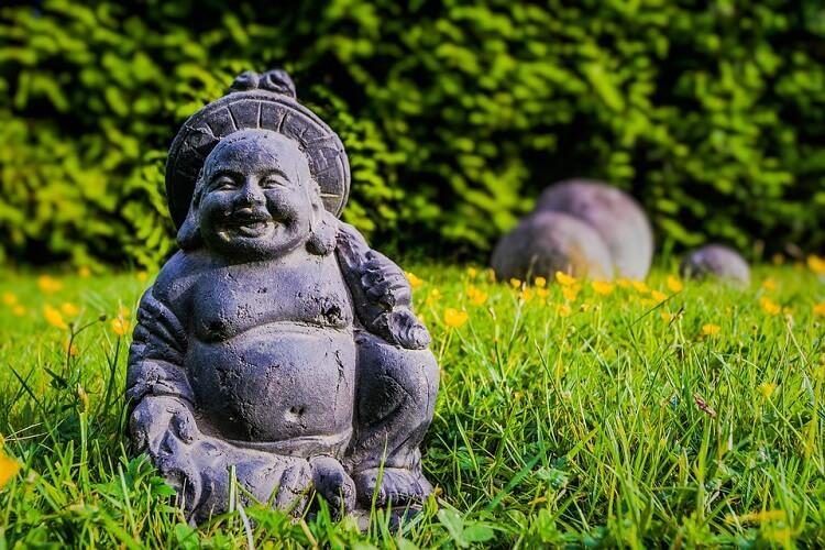a small buddha statue