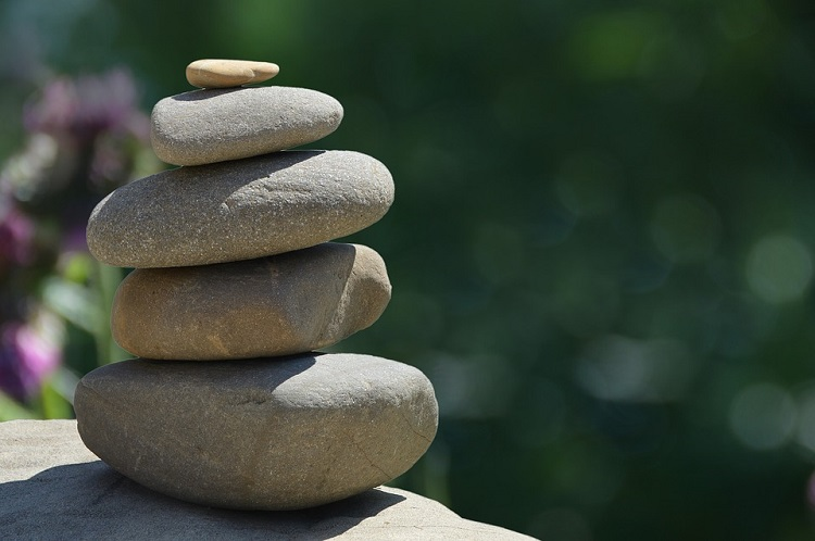 several stones in balance