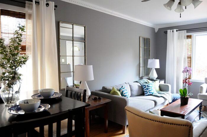 a furnished living room