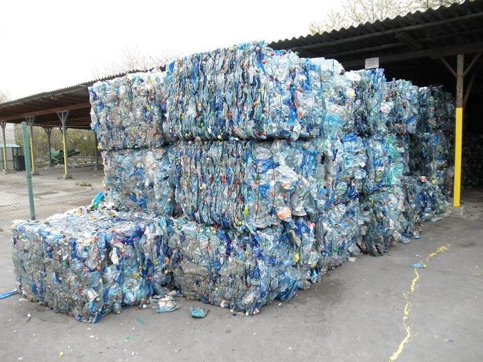plenty of plastic bottles