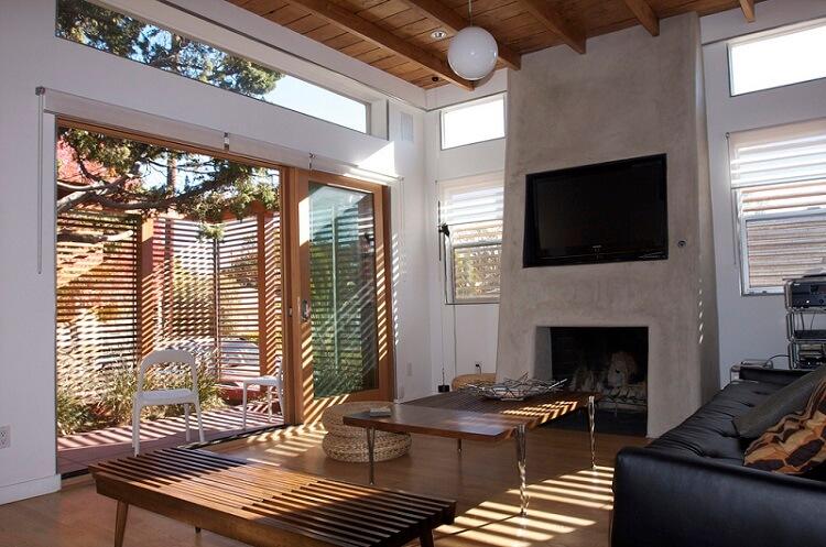 the interior design of a room