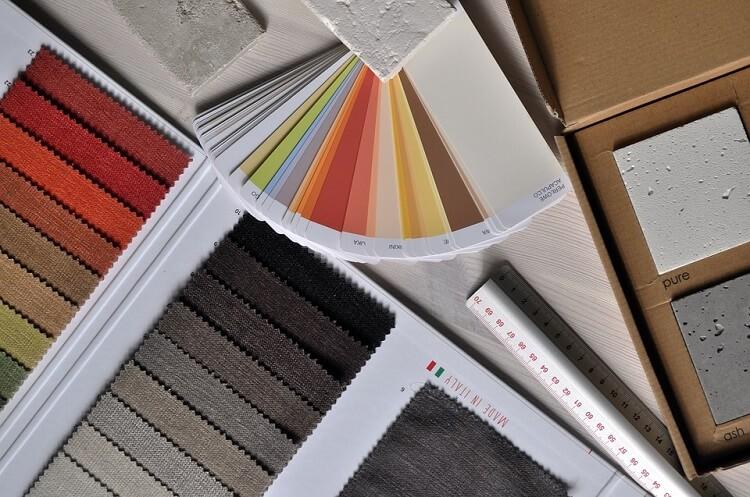 an interior design palette close-up