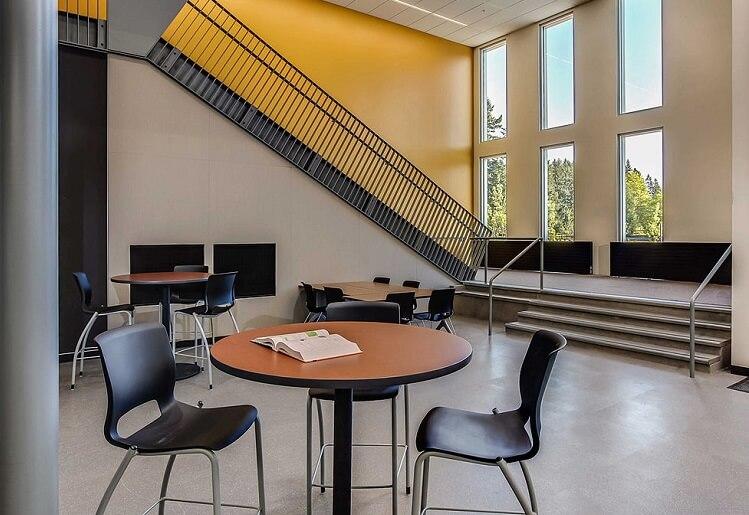 the interior of a school