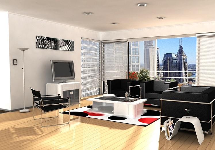 a modern living room design