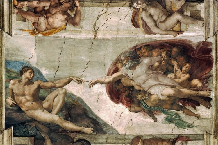 a part of the famous Sistine Chapel's painting