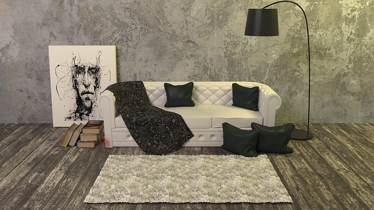 white and gray simplistic interior design