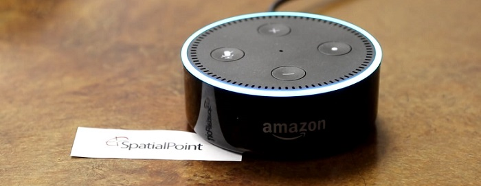 a small device made by amazon enabled alexa system