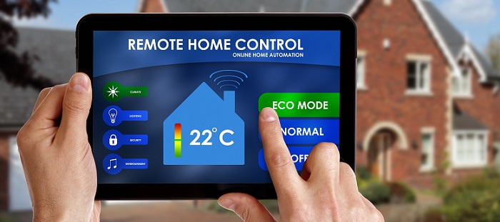 a tablet with an intelligent home system