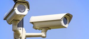 two security cameras