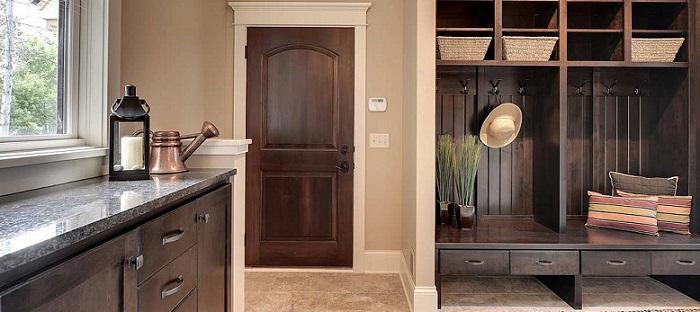 an brown elegant mudroom furniture