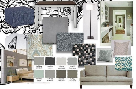 a collage of several interior decorating samples