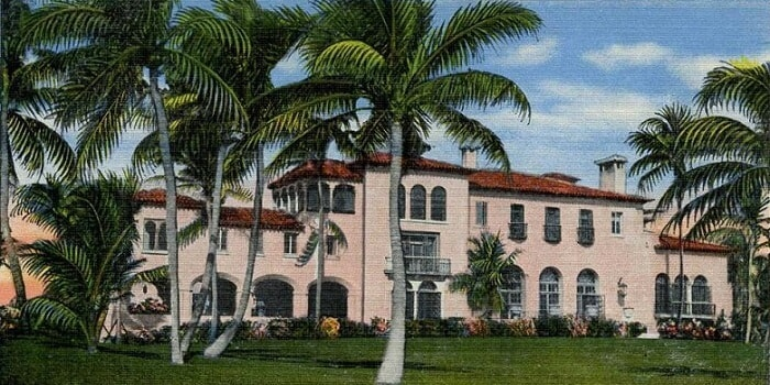 the painting of the El Mirasol in Palm Beach, Florida