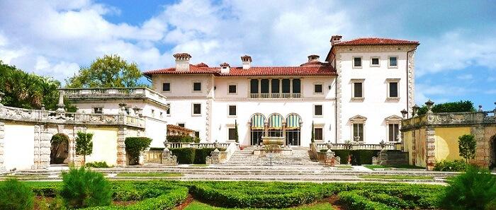 the beautiful large Villa Vizcaya in Miami, Florida