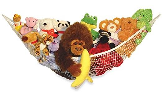 a toy hammock full of staffed toy animals
