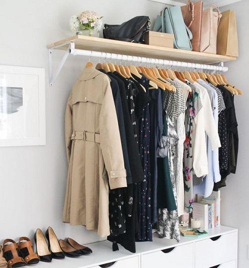 a small home entrance storage idea