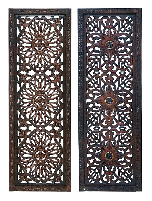 Deco 79 34087 Elegant Wood Wall Panels