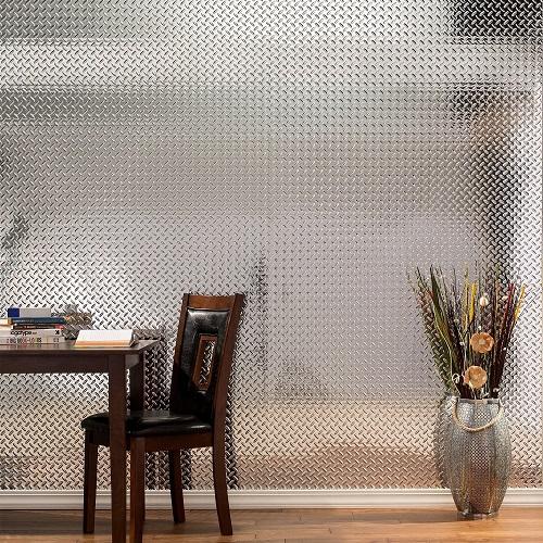 Fasade Diamond Plate Decorative Wall Panel