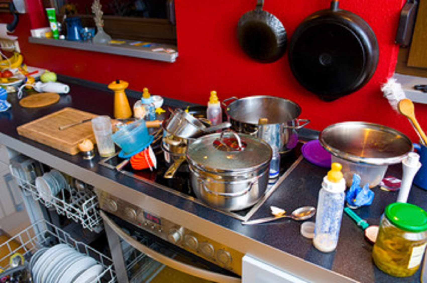 remove this kitchen clutter when you have a feng shui kitchen design