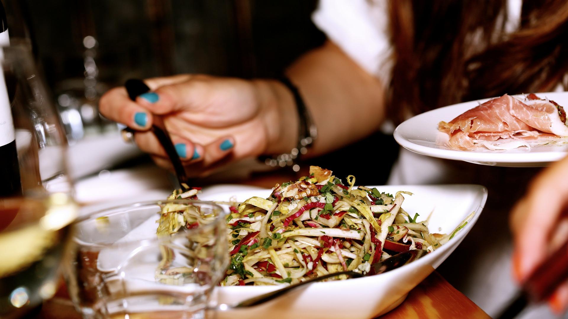 vege salad on the plate