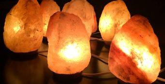 three best himalayan salt lamp in a dark room
